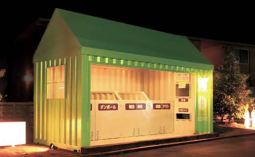回収BOXの夜間LED照明の写真